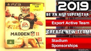 I bought Madden 11 in 2019 and it's AMAZING!
