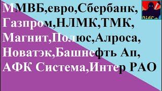 ММВБ,евро,Сбербанк,Газпром,НЛМК,ТМК, Магнит,Полюс,Алроса, Новатэк,Башнефть Ап, АФК Система,Интер РАО