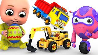 Kids Toys - Easter Egg - Big Crane Construction Truck - Unboxing Surprise Eggs From Jugnu Kids