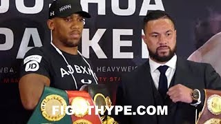 ANTHONY JOSHUA VS. JOSEPH PARKER FULL PRESS CONFERENCE AND FACE OFF