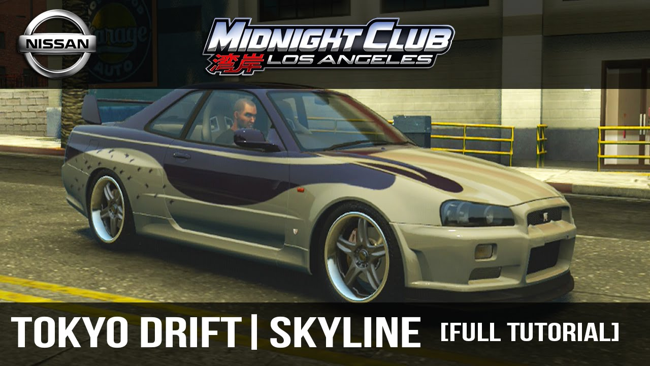 How to make full tutorial midnight club l a the fast the furious tokyo drift skyline