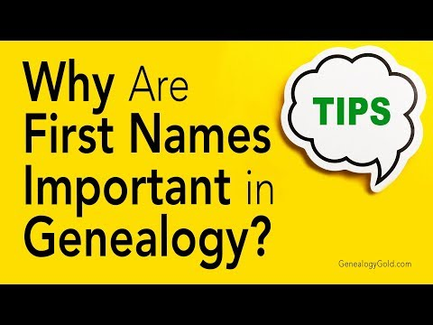 Genealogy Clips #27 | Why Are First Names Important in Genealogy? | Genealogy Gold Podcast