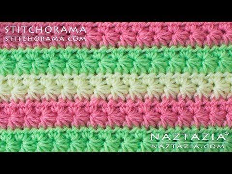 How to Crochet the Star Stitch – Daisy Marguerite Stitch – DIY Tutorial – Stitchorama by Naztazia