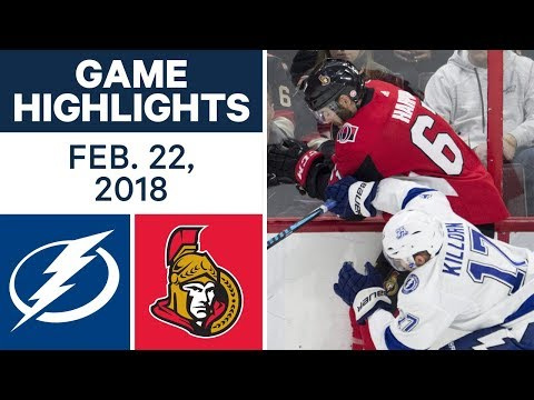 NHL Game Highlights | Lightning vs. Senators - Feb. 22, 2018