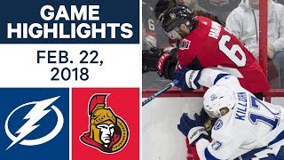 NHL Game Highlights | Lightning vs. Senators - Feb. 22, 2018