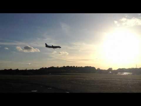 Kalmarflyg landing at kalmar airport