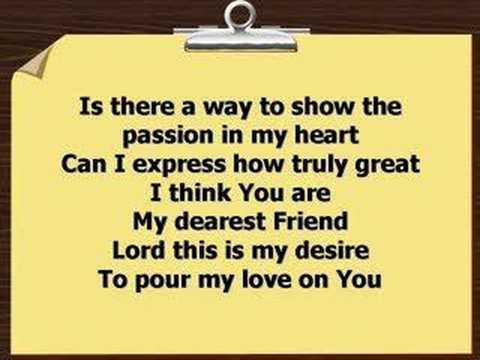 Pour My Love On You Worship Video W Lyrics Youtube