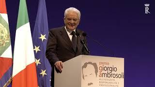 Intervento del Presidente Mattarella alla VII edizione del Premio Giorgio Ambrosoli