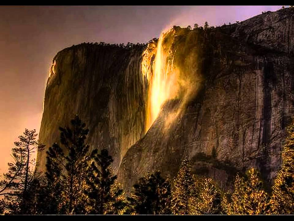 Fall With Water Wallpaper Horsetail Fall The Awesome Firefall Of Yosemite Park
