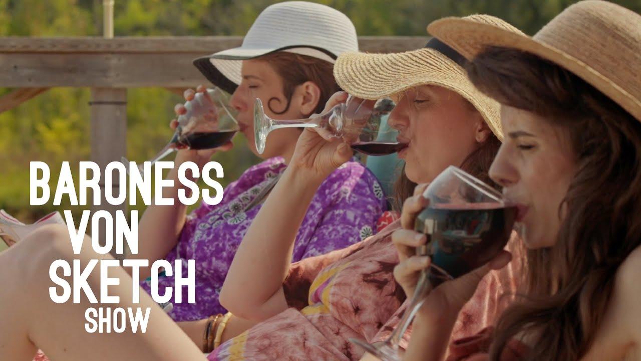 Download Red Wine Ladies at the Cottage | Baroness von Sketch Show