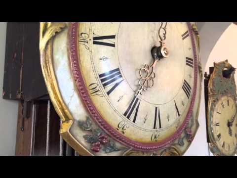Rare Black Forest Musical Harp Clock Circa 1790 Hackbrettuhr