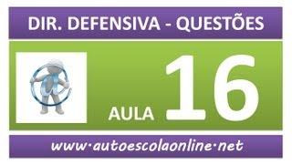 AULA 81 PROVA SIMULADA DIREÇÃO DEFENSIVA - CURSO DE LEGISLAÇÃO DE TRÂNSITO EM AUTO ESCOLA