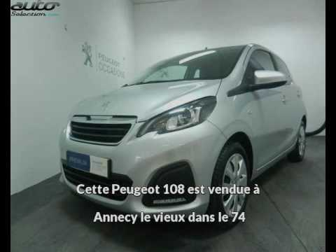 peugeot 108 occasion visible annecy le vieux pr sent e par peugeot annecy youtube. Black Bedroom Furniture Sets. Home Design Ideas