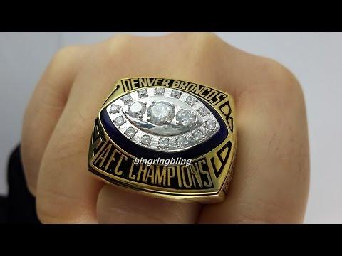To Broncos Fans,replica 1989 denver broncos afc ring.