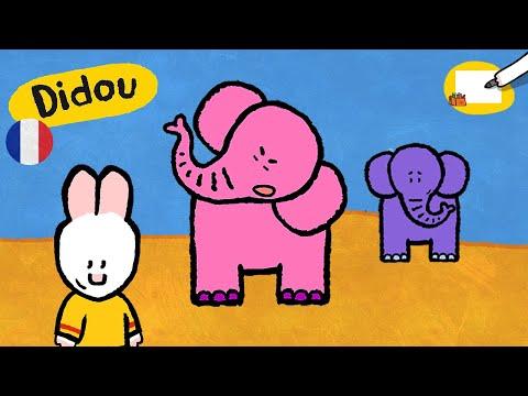 Eléphant - Didou, dessine-moi un éléphant |Dessins animés pour les enfants