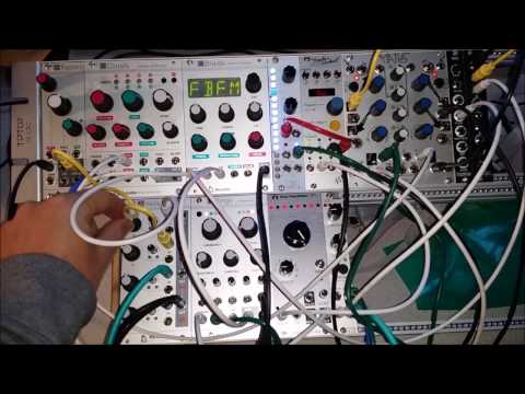 Piano Drone (Tim Hecker Style): Modular Synth Jam w/ Radio Music Looping Mode, Rings FM Mode