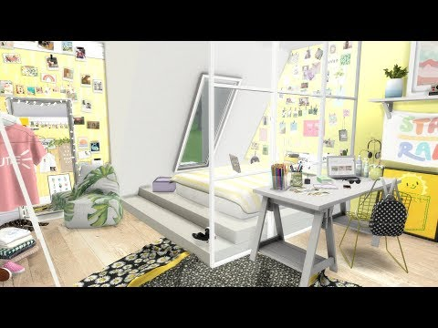 THE SIMS 4: SPEED BUILD // VSCO GIRL BEDROOM + CC LINKS
