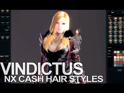 Vindictus Female Nx Cash Shop Hairstyles Arisha Youtube