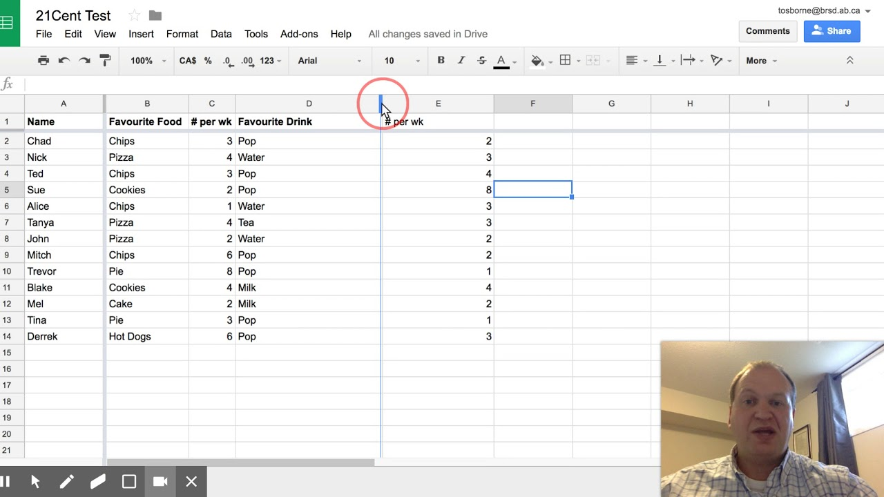 How to resize your columns in Google Sheets