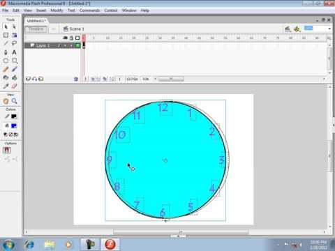 Analog Clock in Macromedia Flash