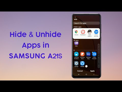 How to Hide & Unhide Apps in Samsung A21s