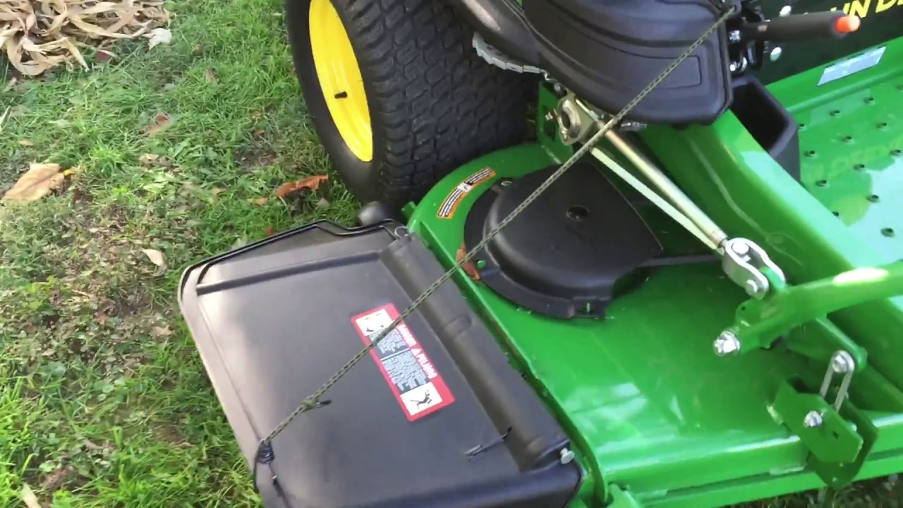 JD Z960M - Quick Way To Raise Discharge Chute & New Trailer Hitch Installed