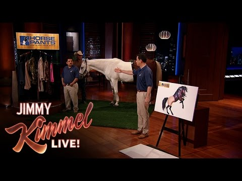 Thumbnail: Jimmy Kimmel and Guillermo Pitch Horse Pants on Shark Tank