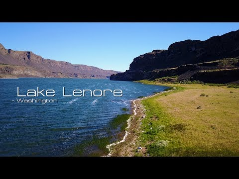 Lake Lenore, Washington (from a drone and on foot)