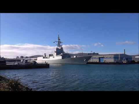 Spanish Frigate Almirante Juan de Borbon F102 in Belfast