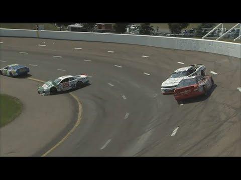 NASCAR Pinty's Series 2017. Riverside International Speedway. Multiple Crash