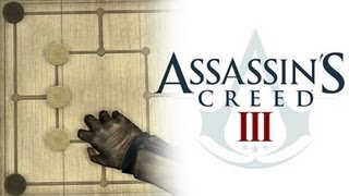 Assassins Creed 3 Six Mens Morris Tutorial (BEST STRATEGY POSSIBLE!)