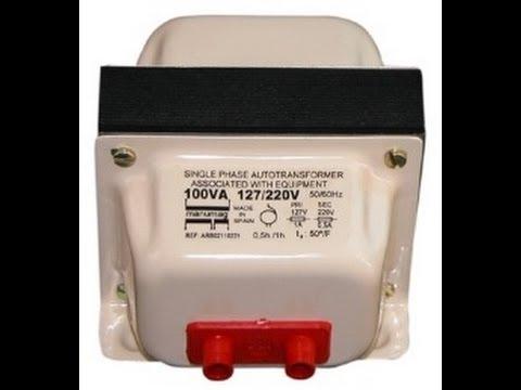 محول كهربائي 220-110 فولت قناة فادي التعليمية للكهرباء