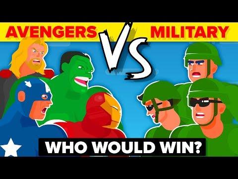 THE AVENGERS vs THE US MILITARY - WHO WOULD WIN? (Disney Marvel Avengers Endgame Movie 2019)