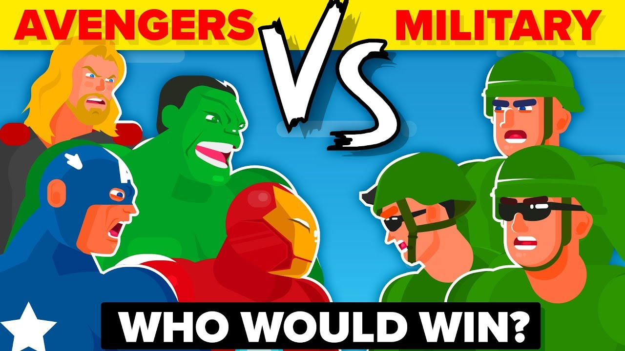 THE AVENGERS vs THE US MILITARY - WHO WOULD WIN? (Disney Marvel Avengers Endgame Movie 2019)