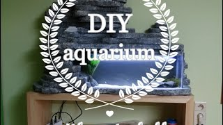 DIY AQUARIUM WITH WATERFALL!  -MY SUMMER PROJECT-