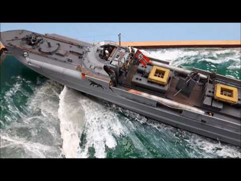 Revell S-100 Schnellboot water diorama by Danny Crossman