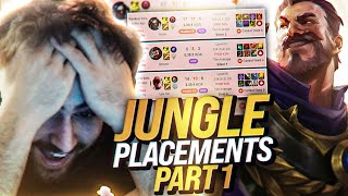 Yassuo | JUNGLE UNRANKED TO CHALLENGER PLACEMENTS PART 1