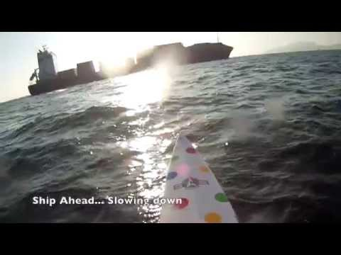 SUP Downwinding the East Lamma Channel - Ship Encounter #1