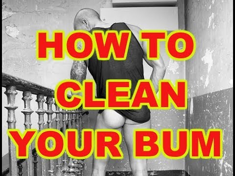 How to clean butt