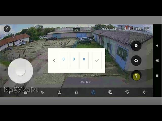 Dahua PTZ kamera vezérlése DMSS applikációból