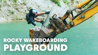 How They Built A DIY Wake Park in Austria | Falling Rocks - Behind The Scenes