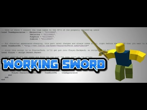 How To Make A Working Sword Roblox Scripting Youtube