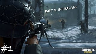 Call Of Duty: WW2 BETA LIVE STREAM #1! EARLY ACCESS GAMEPLAY,  NEW WEAPONS, STREAKS & MORE
