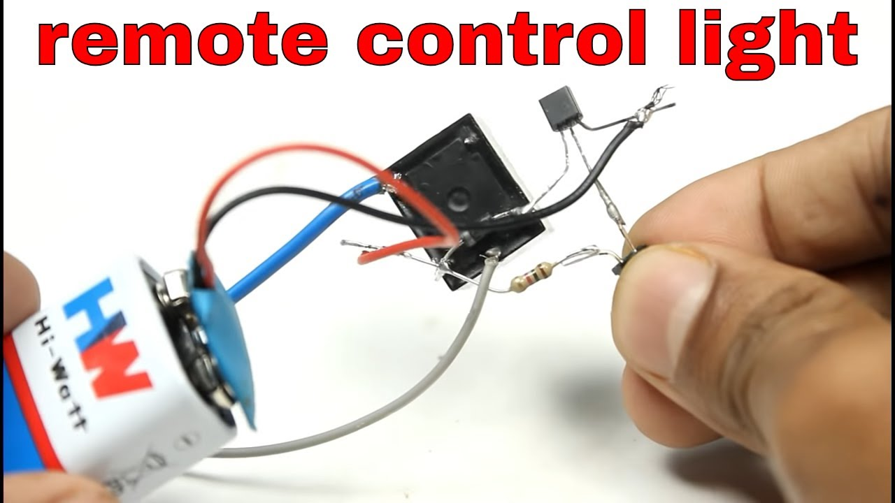 Simple Remote Control 230v Light Without Ic Amazing Diy Idea Youtube Using Ne555 Timer Circuit Diagram 555