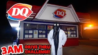 DONT GO TO DAIRY QUEEN AT 3AM OR DAIRY QUEEN GHOST WILL APPEAR! | DARIY QUEEN DRIVE THRU CHALLENGE!