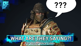 For Honor: Character Voice Clips Translated!