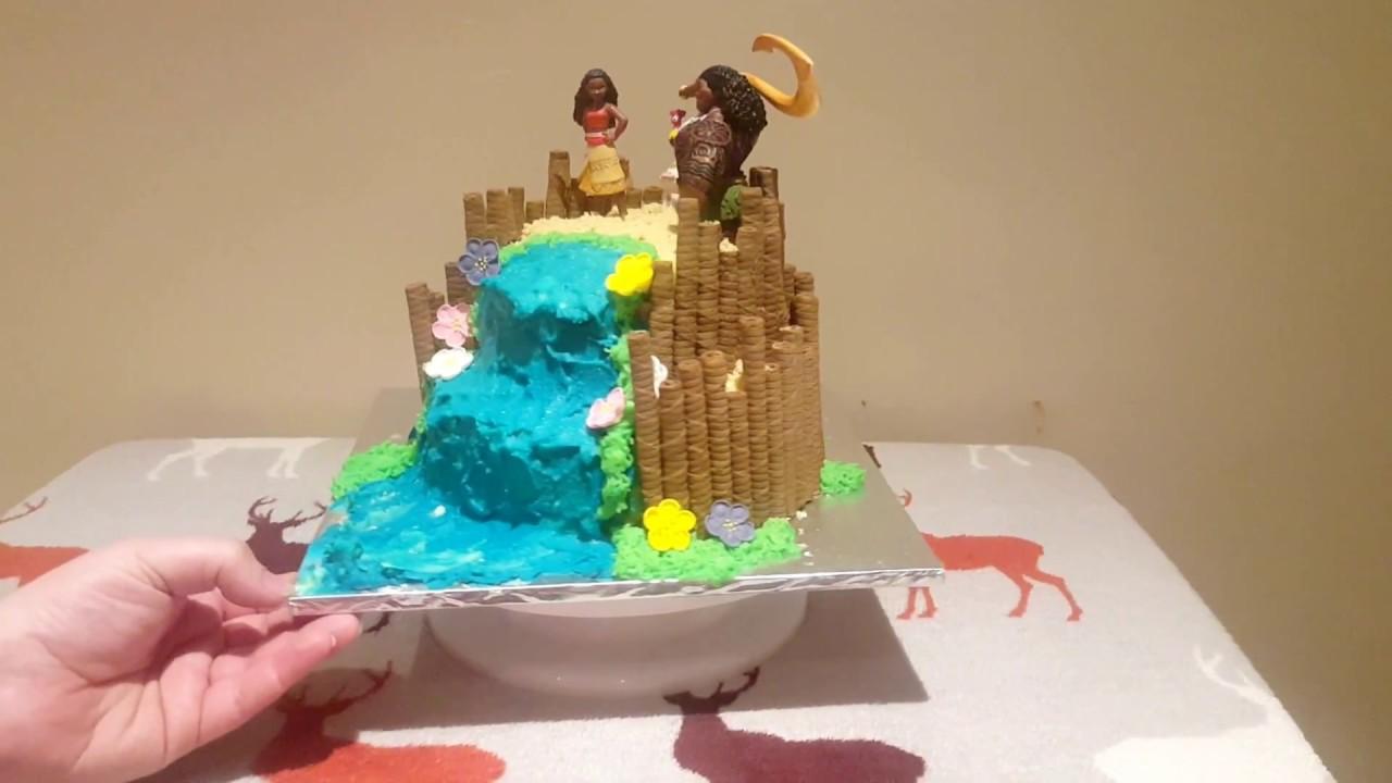 Quick And Easy Disney Moana And Maui Birthday Cake Youtube
