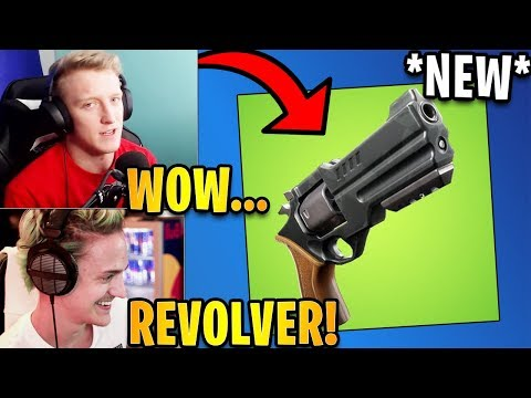 Tfue & Streamers React to *NEW* Revolver Weapon! | Fortnite Highlights & Funny Moments