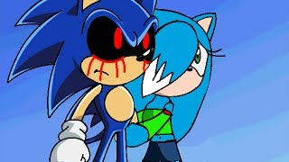 ::Recoloring【Sonic X】To Sonic.exe And Ice The Cat:: ~Request- PrincessIce TheCat~