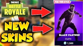 "NEW SECRET ""BLACK PANTHER"" SKIN (Fortnite Battle Royale Update)"